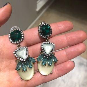 Baublebar emerald statement earrings